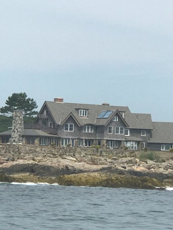 Kennebunkport, ME: Bush Compound on Walker's Point from our Lobster Tour Boat