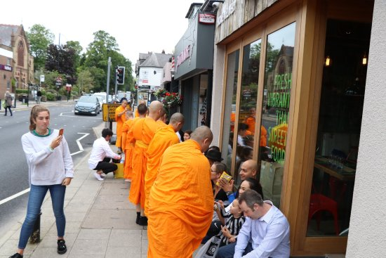 Bramhall, UK: The Buddhist Blessing drew lots of Positive Attention from Passersby!