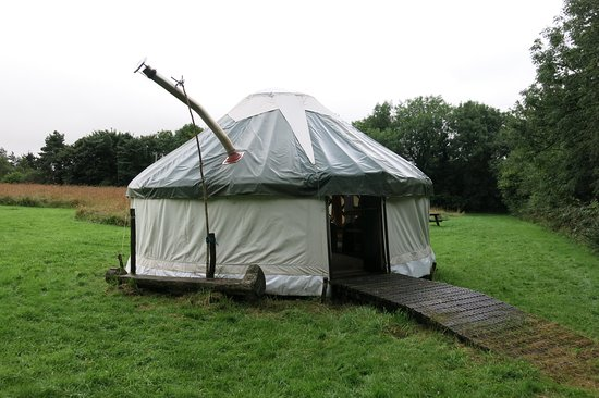Lampeter, UK: Outside the yurt