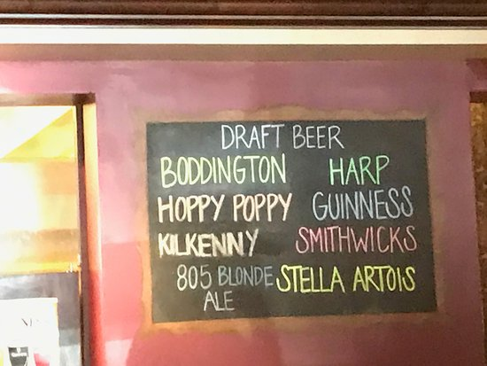 Fitzpatricks Tavern: Whats on tap.