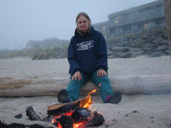 Rockaway Beach, OR: Unlike me, my wonderful partner just blossomed over these few days at this great place!