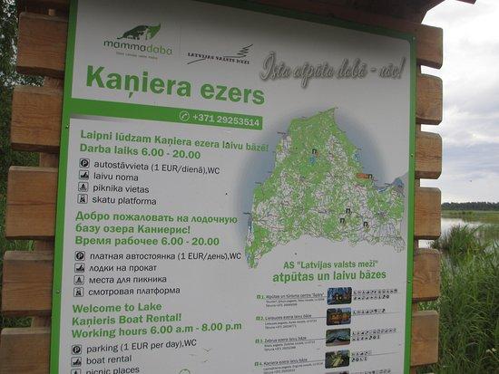 Lapmezciems, Latvia: Съезд на озеро