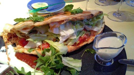 Pizza calzone verde - Picture of La Cucina, Vals - TripAdvisor