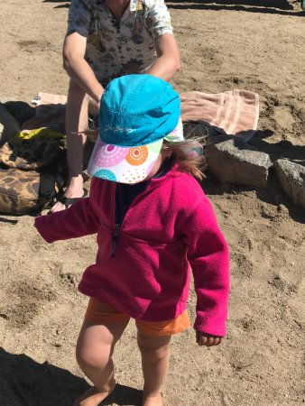 Grand Lake, CO: lucy having sand time