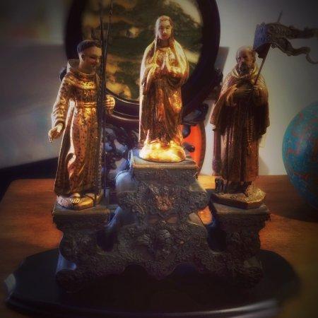 San Francisco de Paula, la Virgen y San Felipe, obra novohispana