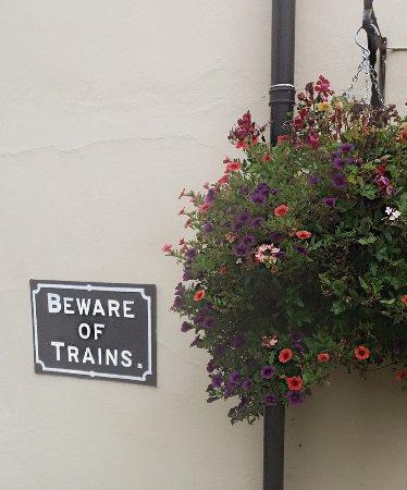 Burley, UK: beware of the trains