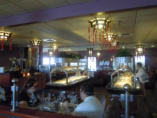 Champaign, IL: view of buffet tables