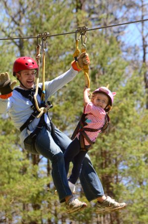 Clarkesville, GA: zipline all ages can go