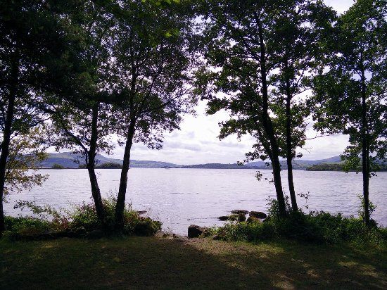 Mountshannon, Ireland: View from mobile home.
