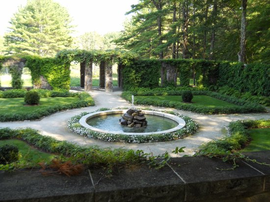 Lenox, MA: Walled garden at The Mount