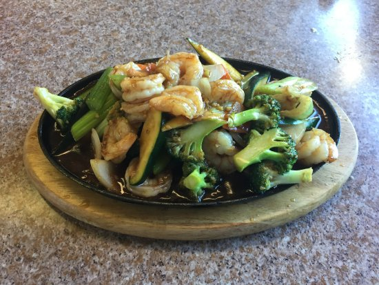Queen Charlotte City, Canada: Prawns on Sizzling Plate (2017)