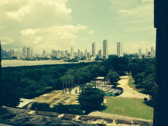 Museo Panama Viejo: View out of the tower.