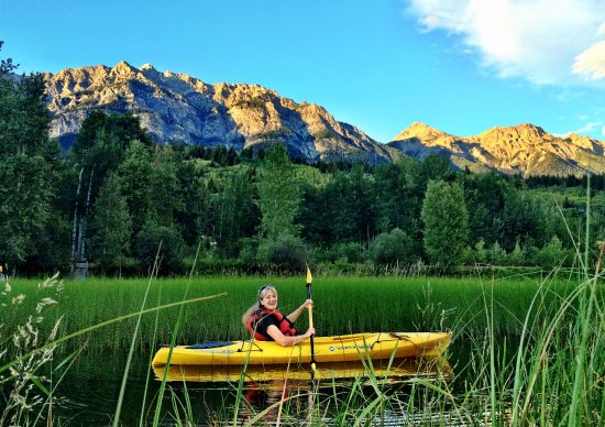 Golden, Canada: kayaking in the spectacular colours of wetland