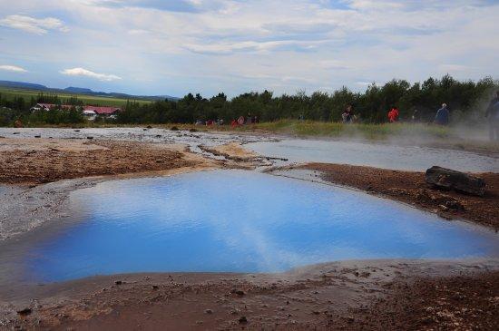 Selfoss, Iceland: blue water