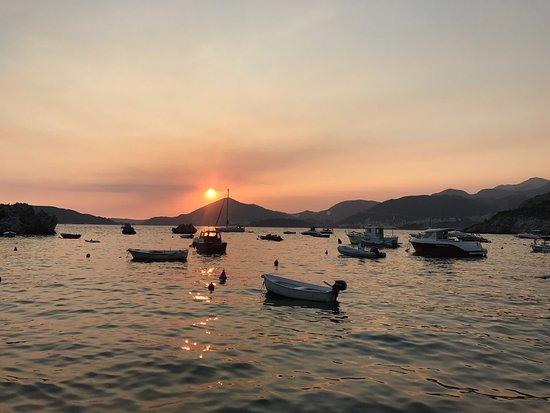 Przno, Montenegro: Cena al tramonto
