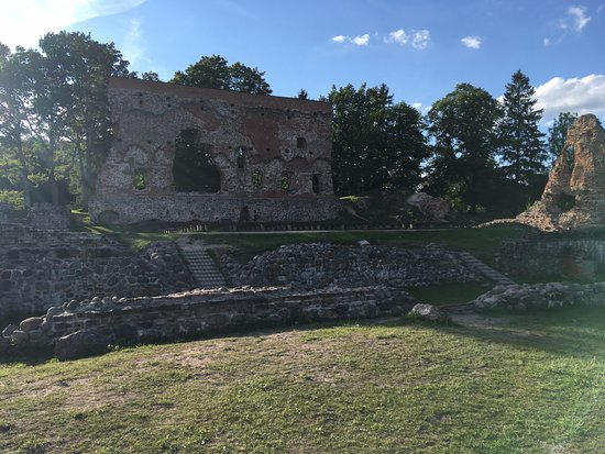 Viljandi, Estonia: View on the ruins