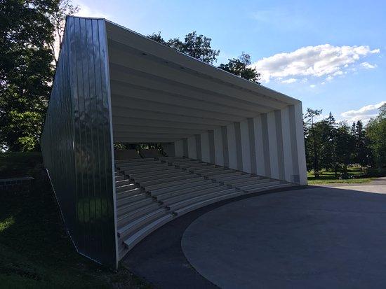 Podium in Viljandi's park