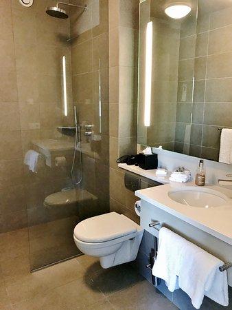 Vestmannaeyjar, Ισλανδία: Clean, modern bathroom. Excellent waterfall shower. Refreshing soaps.