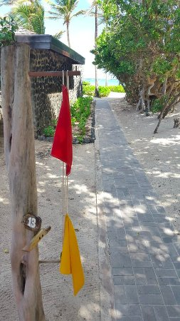 Petit St.Vincent: The flag system for butler service / privacy at PSV was outstanding!