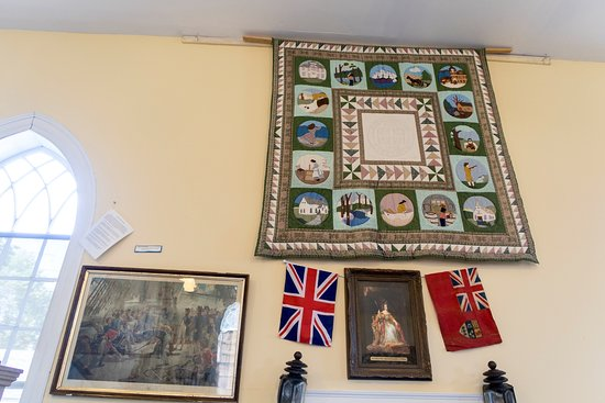 Guysborough, Canada: Tapestry, picture of Nelson at Trafalgar and another of Queen Victoria.