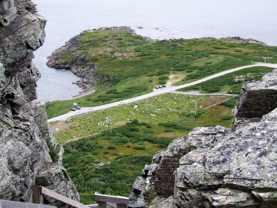St. Anthony, Canada: View near the top. The three of us are seniors and were able to do this comfortably with brief s