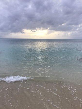 Sand Castle on the Beach: calmest water on the island!