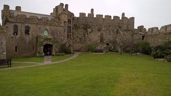 Manorbier Castle: This is the part that was set up inside for a wedding