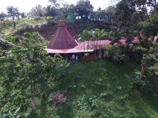 Restaurante Caballo Negro: The restaurant from the air