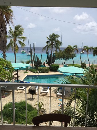 Bonaire Oceanfront Apartments: View from my balcony, Mesmerizing!