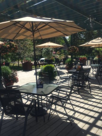 Marcell, MN: Patio on a Sunny Summer day