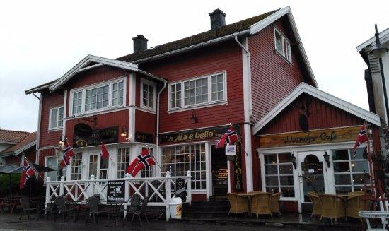 Horten, Norge: outside the cafe/restaurant