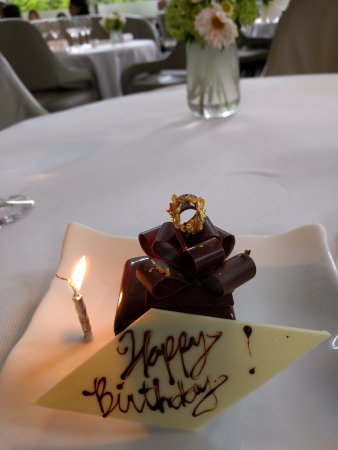 Jean Georges: Happy Birthday chocolate cake with gold leaf