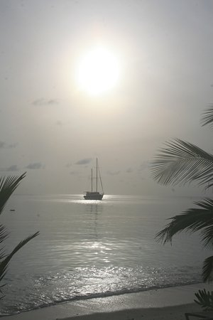 North Ari Atoll: View of sunrise from our room.