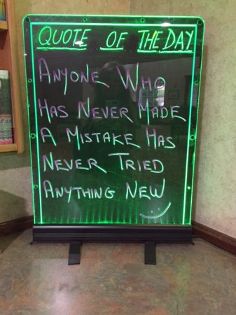 Portland, MI : at the lobby. it made me smile :)