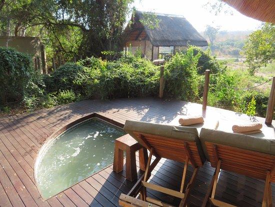 Jock Safari Lodge: Your private patio and balcony