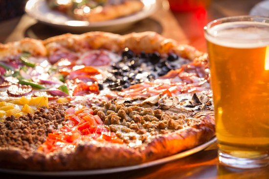 Hideaway Pizza : Can't decide? The Hideaway Special has a different topping on every slice!