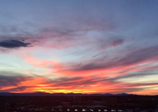 La Fonda on the Plaza: Amazing sunset from the Bell Tower