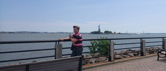 Liberty State Park: view of statue of liberty from this park