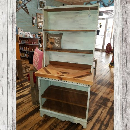 Cherish Every Moment Upcycled Kitchen Hutch Witg Barnwood Top And Gl Doors 249 99