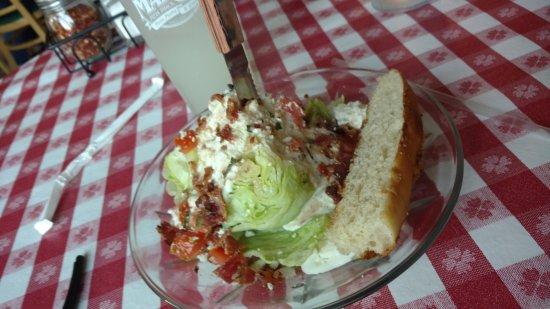 Rohnert Park, CA: lettuce wedge salad