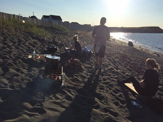 Bonavista, Canada: Quick snap of my sister at the beach boil up