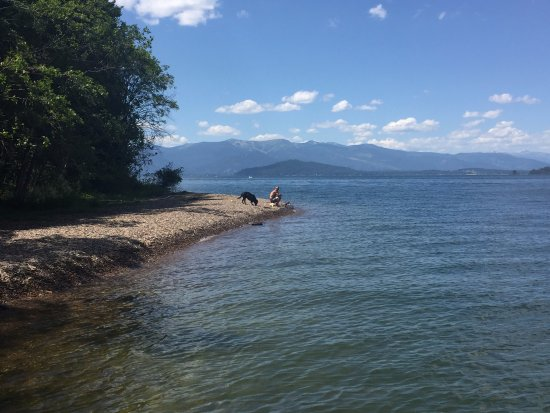 Sandpoint, Айдахо: We found a beach