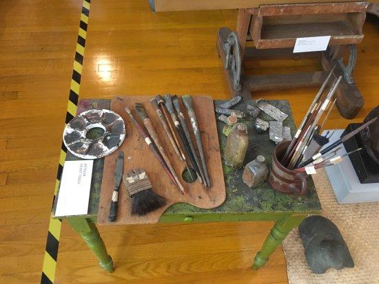 Museo Estudio Diego Rivera y Frida Kahlo: Paintbrushes belonging to Diego Rivera
