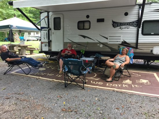 Camping at Warriors Path State Park in Kingsport, Tennessee with friends.