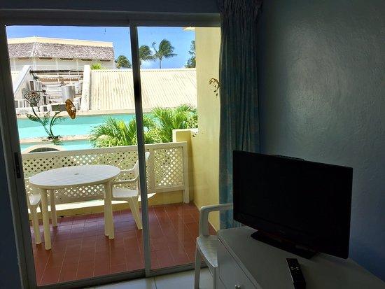 Meridian Inn: Balcón