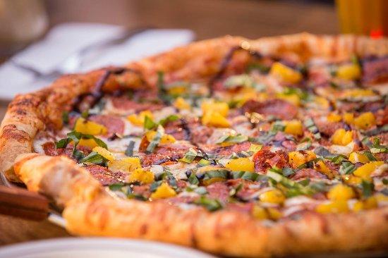 Owasso, OK: Da Bomb: Red sauce, mozzarella, Genoa salami, pepperoni, basil, pineapple, balsamic, Parm-Herb