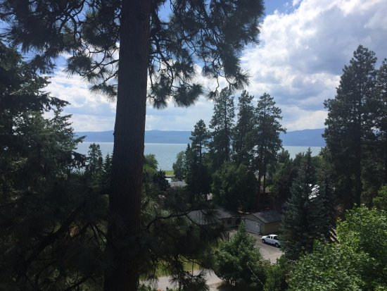 Flathead Lake Brewing Co: View from the deck