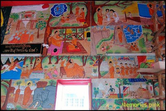 Nong Khai, Thailand: จิตรกรรมฝาผนังในพระอุโบสถ