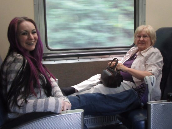 Peninsula, OH: My mother and I on the train