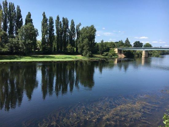 Pessac-sur-Dordogne, França: La vue de la terrasse du Palma Nova